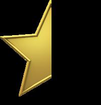 Gold-star-half